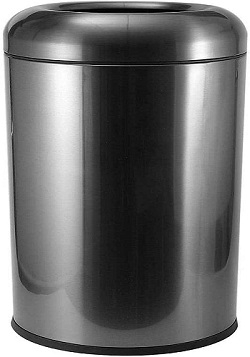 BEAMNOVA Trash Can Outdoor Indoor Garbage Collector For Kitchen, Black